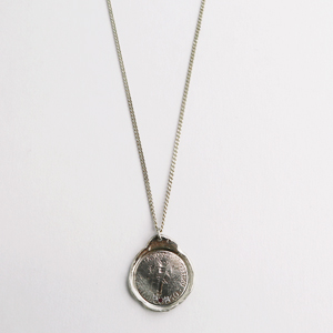 signuture,  old coin necklace ( silver chain )