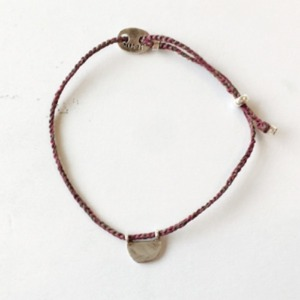 bobo bracelet (wine+khaki color)
